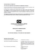 Circular To Shareholders